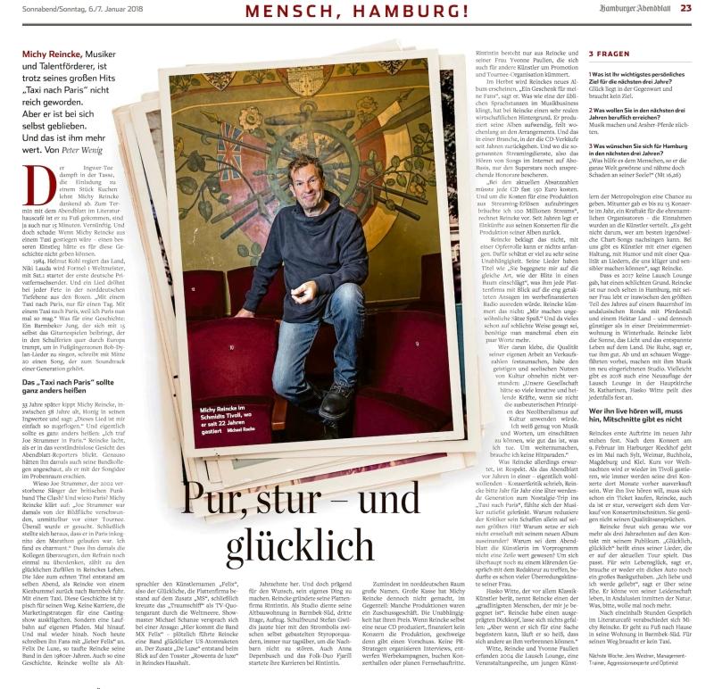 180106 Mensch,Hamburg! Hamburger Abendblatt